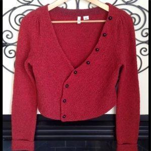 anthropologie moth wool cardigan sweater medium